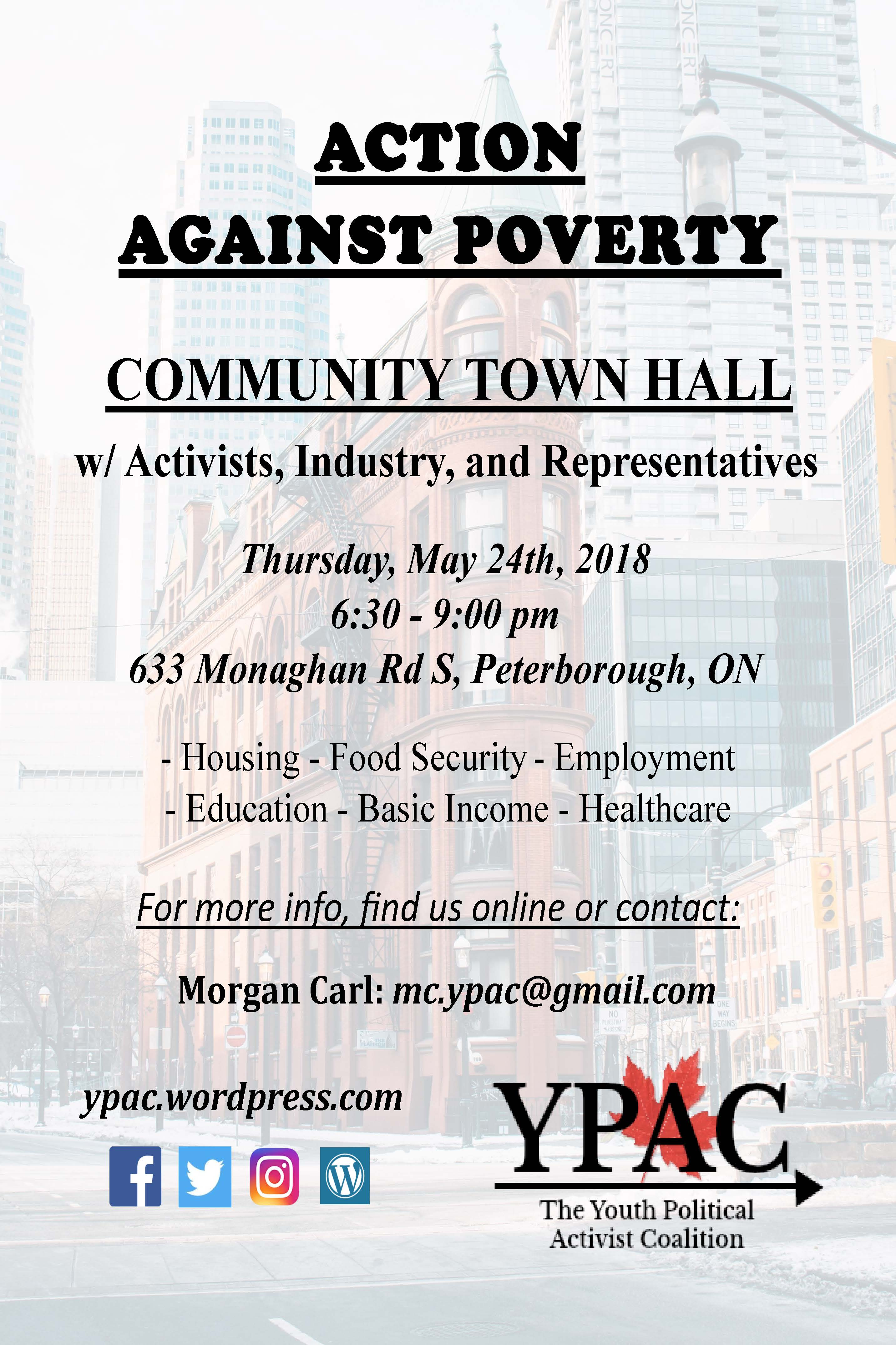 Youth Political Activist Coalition Town Hall Action Against Poverty
